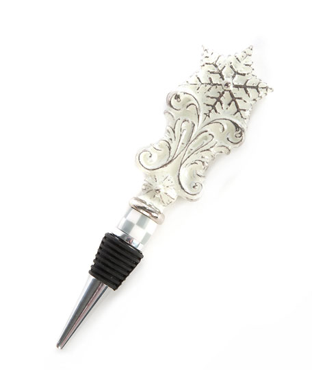 MacKenzie-Childs Snowfall Bottle Stopper