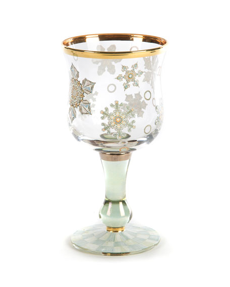 MacKenzie-Childs Snowfall Wine Glass