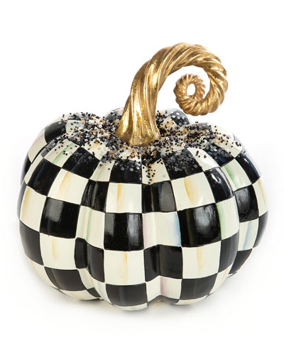 Beaded Check Medium Pumpkin
