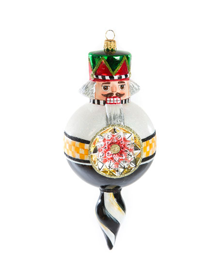 MacKenzie-Childs Nutcracker Reflector Swirl Glass Ornament