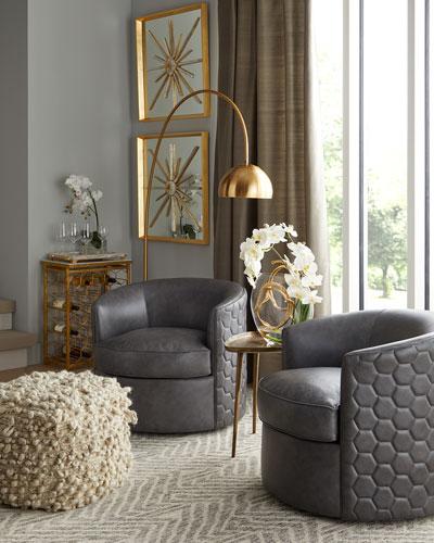 Corbin Leather Swivel Chair