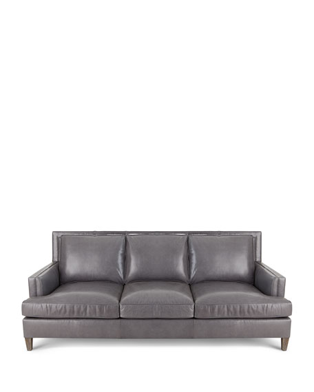 Addison Leather Sofa, 92""
