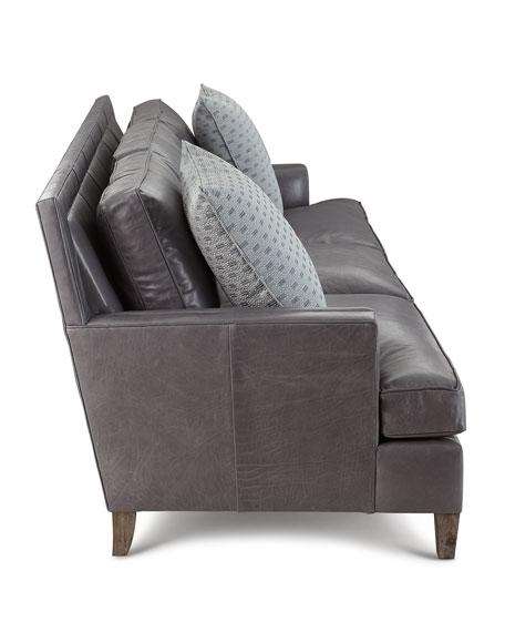 """Addison Leather Sofa, 92"""""""