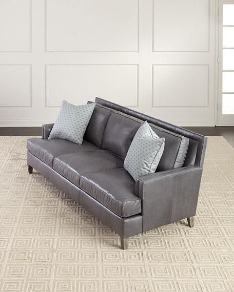 Bernhardt Addison Leather Sofa, 92