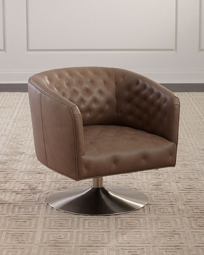Geneva Leather Swivel Chair