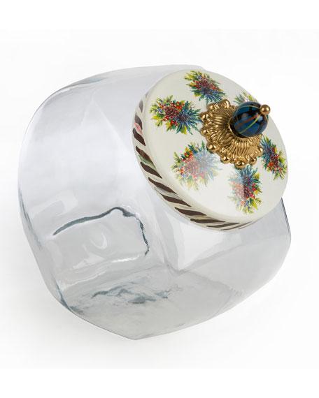 Cookie Jar with Highbanks Enamel Lid