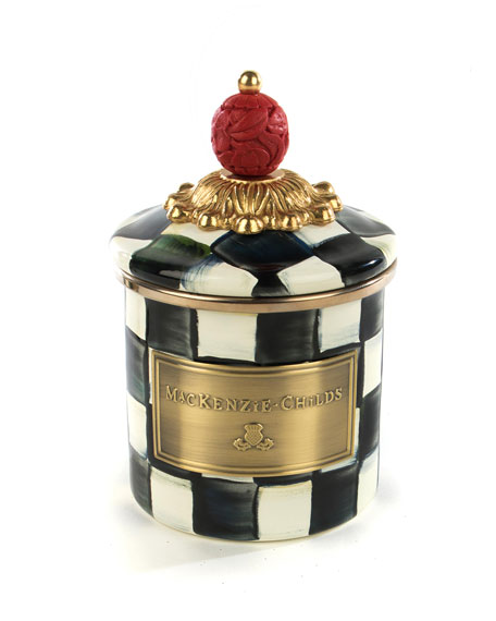 MacKenzie-Childs Courtly Check Mini Enamel Canister