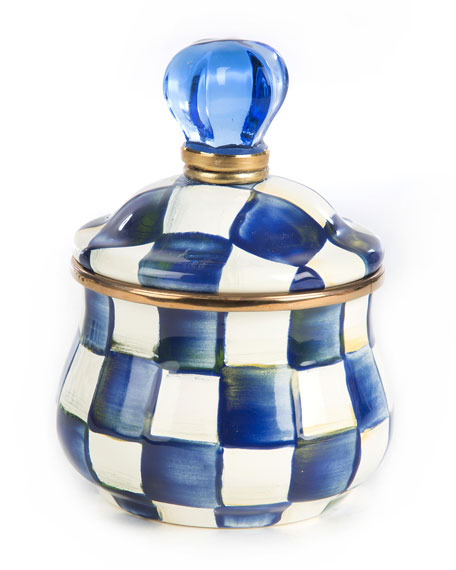 Royal Check Lidded Sugar Bowl