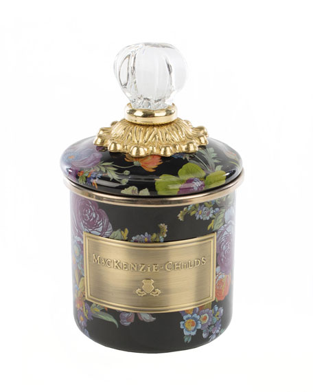 Flower Market Black Mini Canister