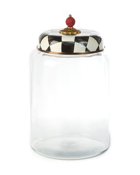 MacKenzie-Childs Courtly Check Biggest Storage Canister