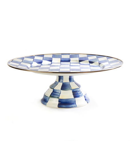 Royal Check Pedestal Large Platter