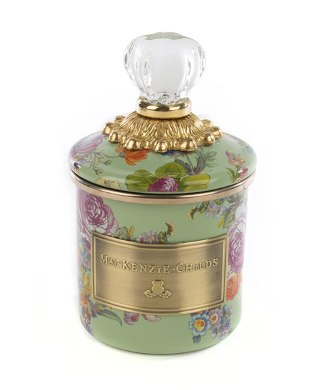 MacKenzie-Childs Flower Market Green Mini Canister