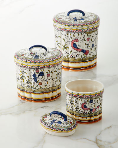 Pavoes Canisters  Set of 3