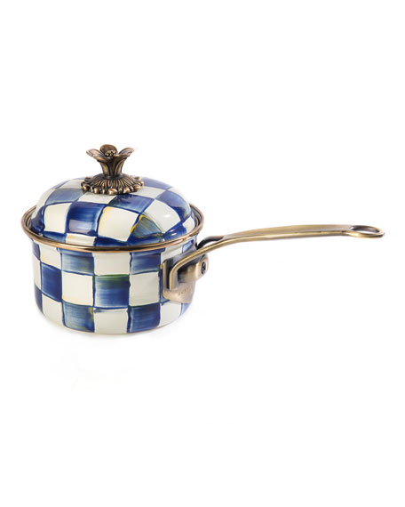 MacKenzie-Childs Royal Check 1-Qt. Saucepan