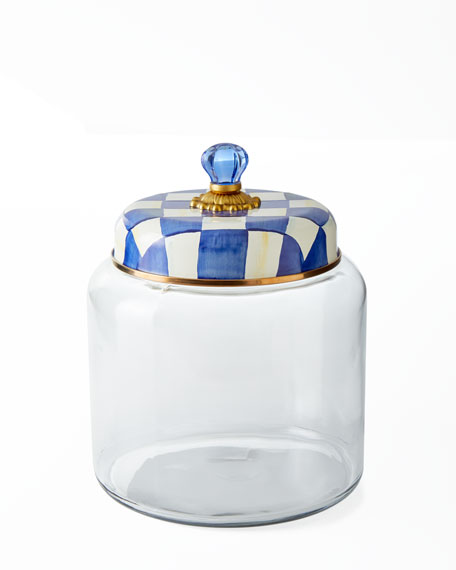 MacKenzie-Childs Royal Check Storage Canister