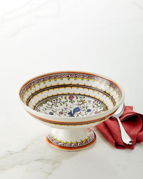 Keramos Nazari Pavoes Pedestal Bowl