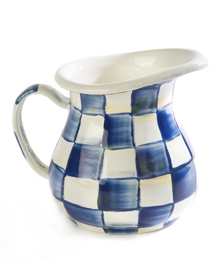 MacKenzie-Childs Royal Check Creamer