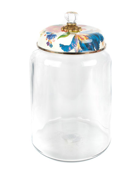 MacKenzie-Childs Flower Market Biggest Storage Canister