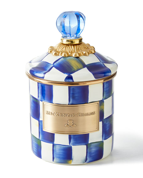 MacKenzie-Childs Royal Check Enamel Canister
