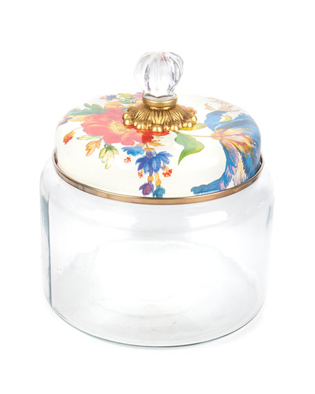 MacKenzie-Childs Flower Market Medium Kitchen Canister