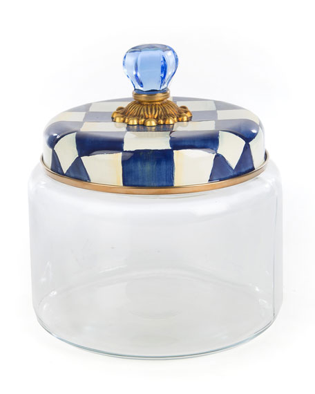 MacKenzie-Childs Royal Check Medium Kitchen Canister