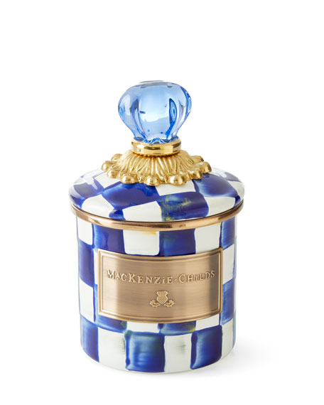 MacKenzie-Childs Royal Check Mini Enamel Canister
