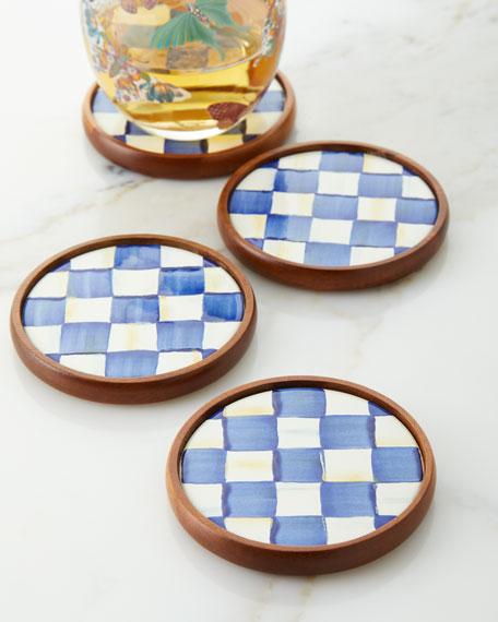 Royal Check Coasters, Set Of 4