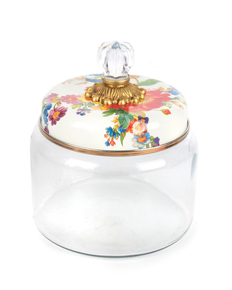 MacKenzie-Childs Flower Market Small Kitchen Canister