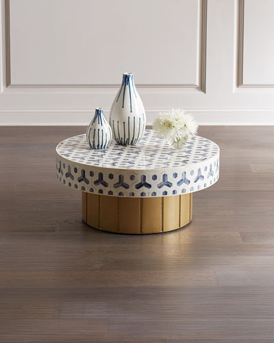 Faye Gold Base Round Coffee Table