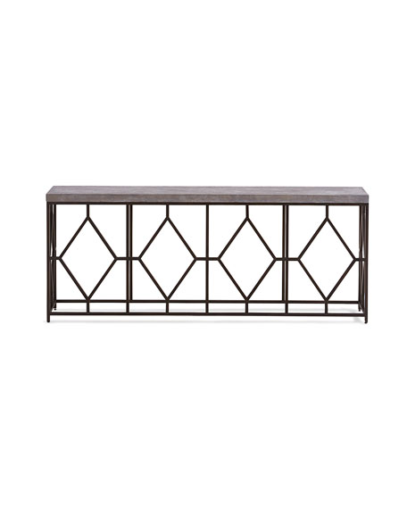 Bella Metal & Concrete Console Table