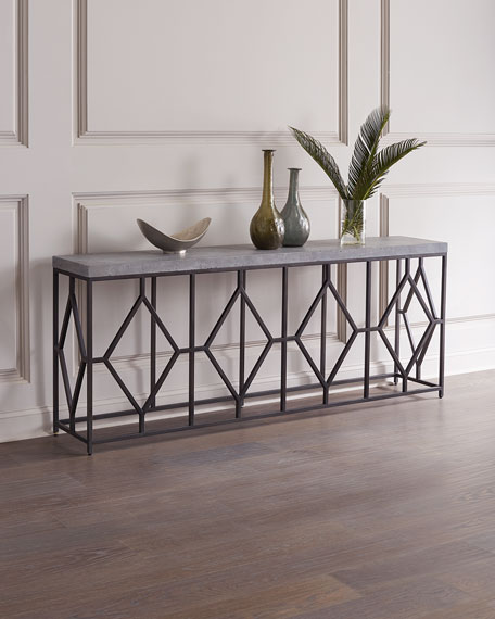 Hooker Furniture Bella Metal & Concrete Console Table