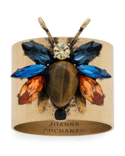 Rainbow Bug Napkin Rings  Set of 2