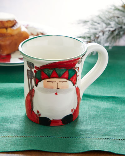 Old Saint Nick Golfing Mug