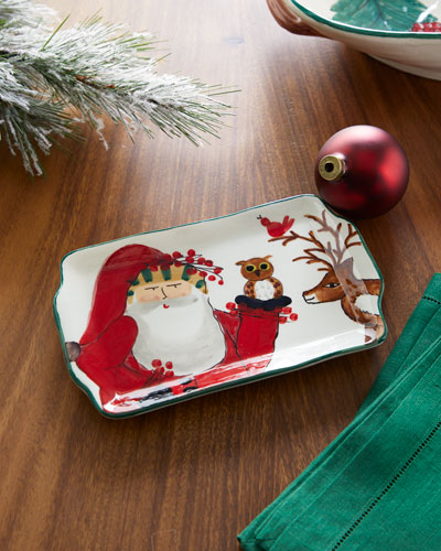 2019 Limited Edition Old Saint Nick Rectangular Plate