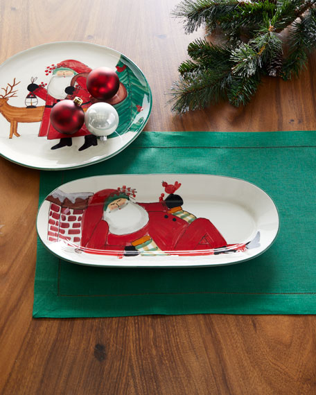 Old St. Nick Small Oval Platter