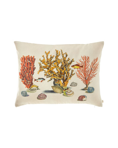 Sea Life Coral Pillow