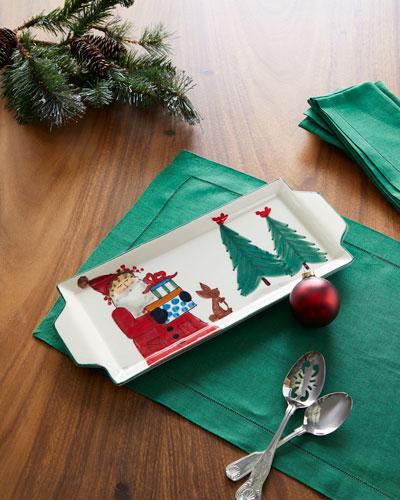 2019 Limited Edition Old Saint Nick Rectangular Platter