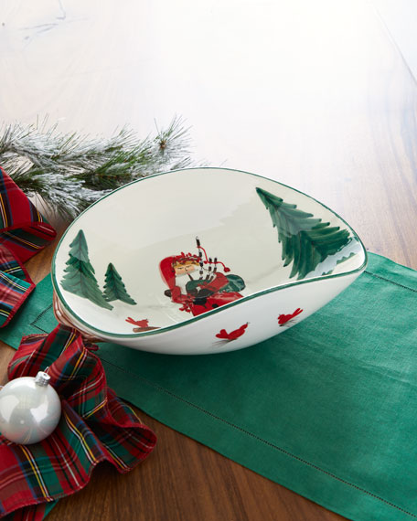 Old St. Nick Bagpipes Oval Bowl