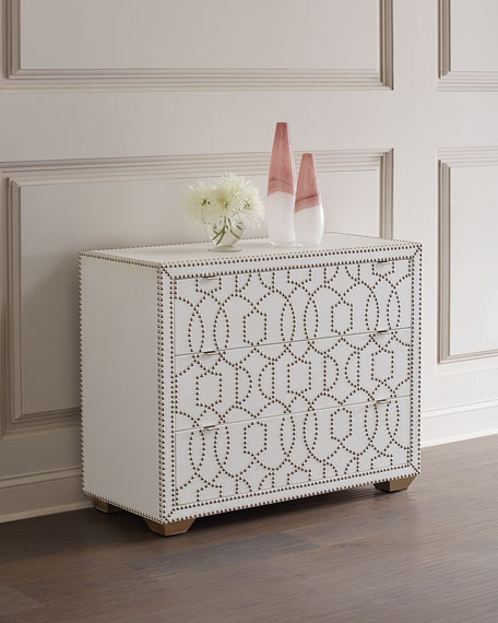 Carlita Nail Pattern Accent Chest