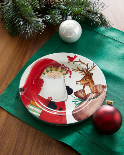 2019 Limited Edition Old Saint Nick Salad Plate
