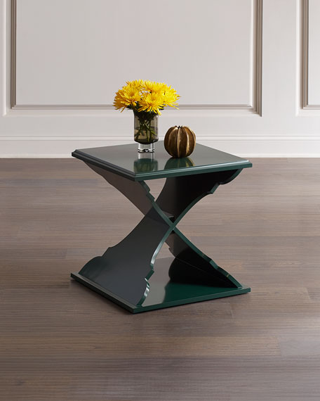 Cross Base Accent Table