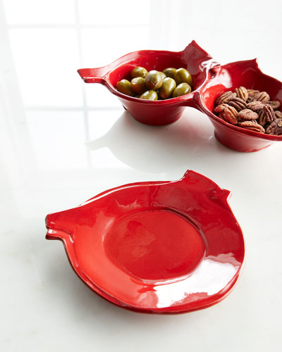 Lastra Holiday Figural Red Bird Canape