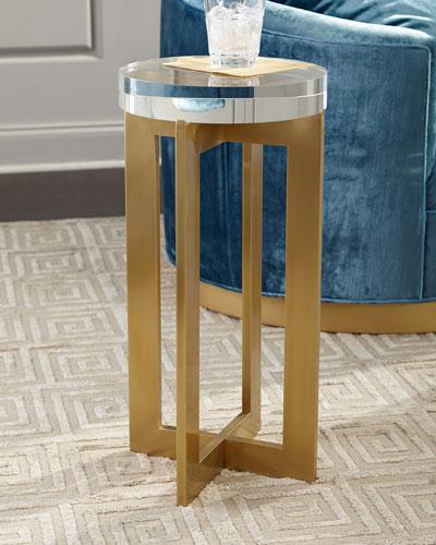 Brass Crystal Martini Table