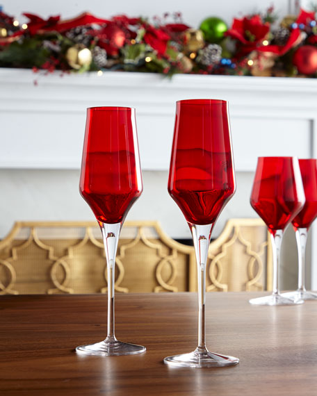 Cotessa Red Champagne Flute