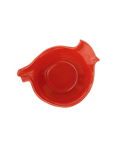 Lastra Holiday Figural Red Bird Small Bowl