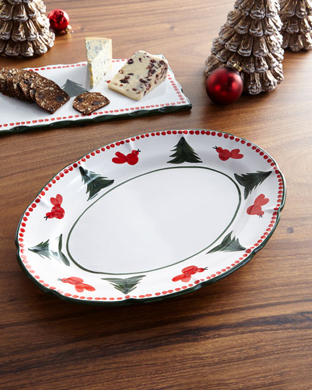 Uccello Rossa Oval Platter