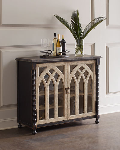 Bella Cathedral Style Bar Cabinet