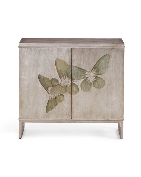 Butterfly Painted Cabinet