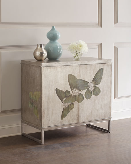 Hooker Furniture Butterfly Painted Cabinet