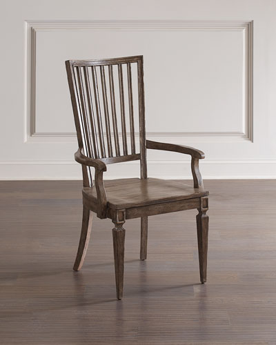 Woodlands Wood Back Arm Chairs  Set of 2
